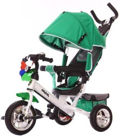 Велосипед трехколёсный Moby Kids Comfort EVA 250/200 мм зеленый 641050 цена