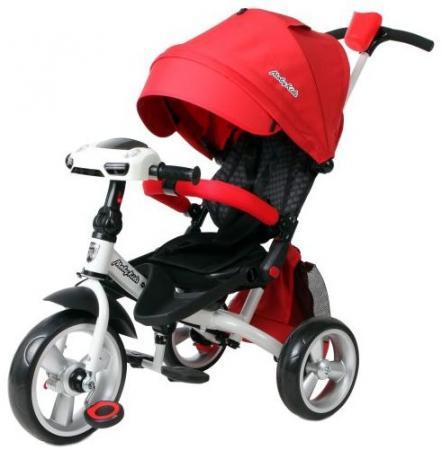 Велосипед трехколёсный Moby Kids Leader 360° EVA Car 300/250 мм красный 641079