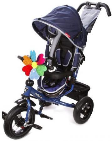 Велосипед трехколёсный Moby Kids Comfort 12x10 AIR 300/250 мм синий 641054
