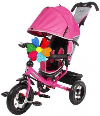 Велосипед трехколёсный Moby Kids Comfort 12x10 AIR 300/250 мм розовый 641055