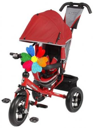 Велосипед трехколёсный Moby Kids Comfort AIR 300/250 мм красный 641053 велосипед трехколёсный moby kids junior 2 10 8 красный t300 2