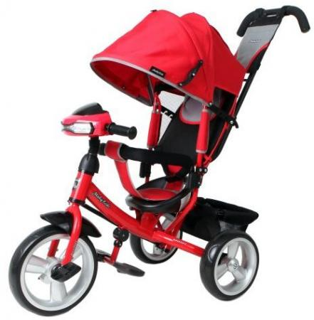 Велосипед трехколёсный Moby Kids Comfort EVA Car 300/250 мм красный 641081 велосипед трехколёсный moby kids junior 2 10 8 красный t300 2