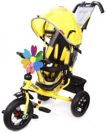 Велосипед трехколёсный Moby Kids Comfort 12x10 AIR 300/250 мм желтый 641150