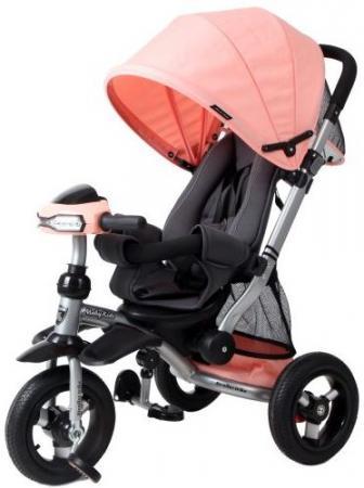 Велосипед-коляска трехколёсный Moby Kids Stroller trike 10x10 AIR Car 250 мм розовый 641075