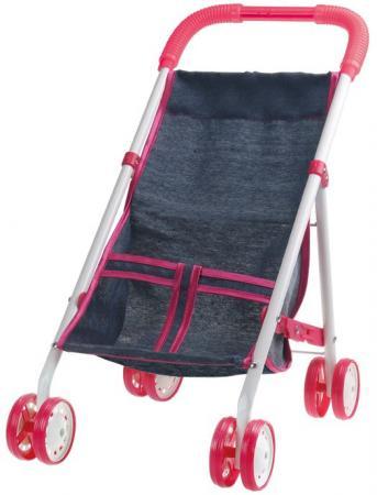 Коляска для кукол 1Toy Красотка-Джинс коляски для кукол 1 toy красотка t58754