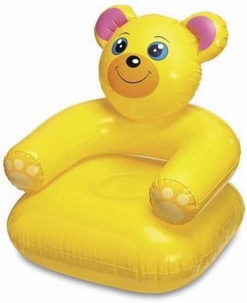 Надувное кресло Intex Медвежонок с68556 кресло надувное intex собака цвет белый 65 х 64 х 74 см