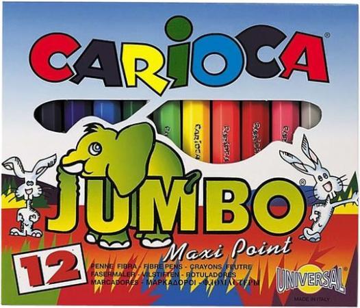 Набор мини-фломастеров MINI JUMBO для детей, 12 цв. carioca набор фломастеров jumbo 40 цветов