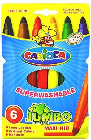 Набор фломастеров CARIOCA Jumbo 50 шт 40564 carioca набор фломастеров jumbo 40 цветов
