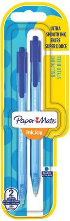 Ручка шариковая INK JOY, с кнопочным механизмом, синий, 2 шт