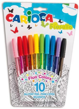 Набор шариковых ручек Fiorella в блистере 10 шт набор смешарики 8 цветных ручек шариковых автоматических 0 7 мм в пвх упаковке с подвесом 84159