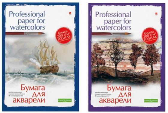 Папка для акварели Альт Холст A4 20 листов 4-021 принадлежности для рисования палаццо папка для акварели марина а3 20 листов
