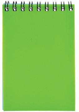 Блокнот на спирали, клетка, пластик.обложка, зеленый, ф. А7, 40л блокнот а7 60л привет совы