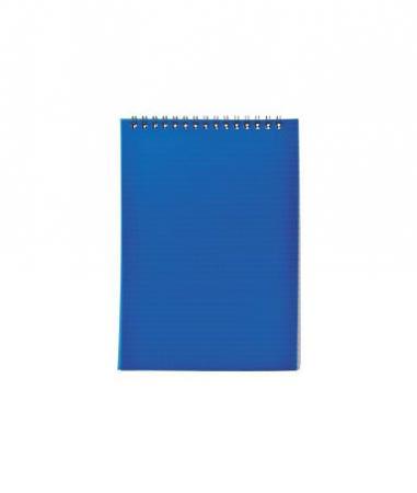 Блокнот на спирали, клетка, пластик.обложка, синий, ф. А6, 40л блокнот а6 40л гребень 5 видов