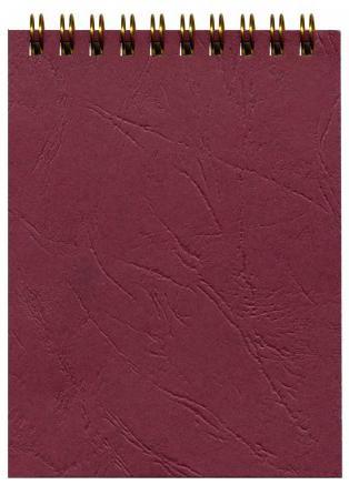 Блокнот OFFICE бордовый, на гребне, кл.,ф. А6, 60 л. тетрадь metallic бордо на гребне кл пластиковая обложка ф а5 80 л 040530