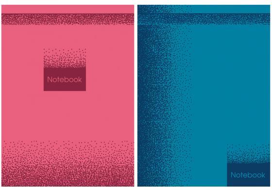 Бизнес-блокнот MONOCOLOR, ламинация, 80л., ф А5, ассорти