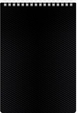 Фото - Блокнот DIAMOND, на гребне, пластик, кл., ф. А5, 80л. черный 036812 тетрадь 80л а5 sketchbook прикольные коты без линовки твердая подложка на гребне