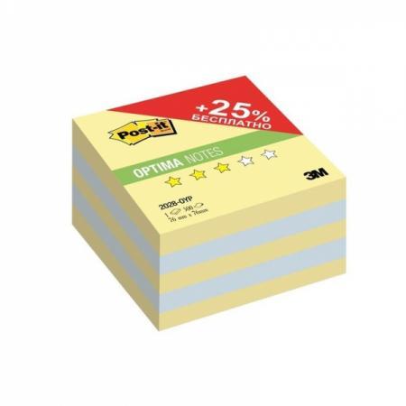 Бумага для заметок с липким слоем POST-IT OPTIMA-Осень,76х76 мм, канар. желтый, 500 л. наждачная бумага для авто 3m 466la 3m466la 500