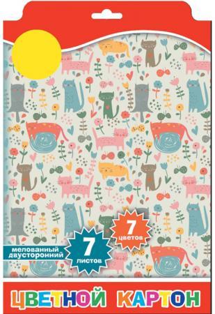 Набор цветного картона Action! ACW-7/7W A4 7 листов action набор цветного картона strawberry shortcake 8 листов 2 шт