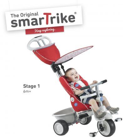 Велосипед трехколёсный Smart Trike Recliner красный