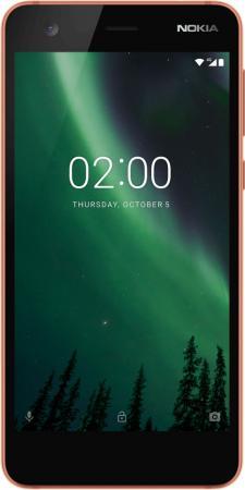 Смартфон NOKIA 2 Dual sim медный черный 5 8 Гб LTE Wi-Fi GPS 3G 4G 11E1MM01A03 смартфон digma vox s503 16гб черный dual sim 4g lte 3g