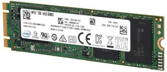 Твердотельный накопитель SSD M.2 512Gb Intel 545s Read 550Mb/s Write 500Mb/s SATAIII SSDSCKKW512G8X1 958688 твердотельный накопитель ssd 2 5 400gb intel s3610 series read 550mb s write 400mb s sataiii ssdsc2bx400g401 940781