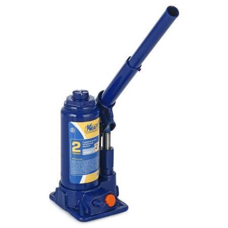 Домкрат KRAFT КТ 800011 бутылочный 2т домкрат гидравлический бутылочный kraftool 2т kraft lift 43462 2 z01