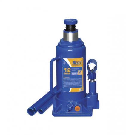 Домкрат KRAFT КТ 800019 бутылочный 12т домкрат гидравлический бутылочный kraftool 12т kraft lift 43462 12 z01