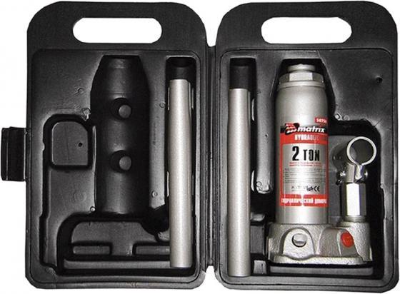Домкрат MATRIX 50750 бутылочный 2т h подъема 181–345мм в пласт. кейсе домкрат matrix 50756 бутылочный 5т h подъема 216–413мм в пласт кейсе