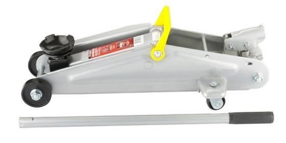 Домкрат MATRIX 510335 подкатный 3т h подъема 130–410мм