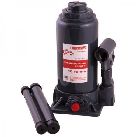 Домкрат SKYWAY 88410 гидравлический бутылочный 10т 200-385мм с клапаном в коробке электропечь delta d 024 белая