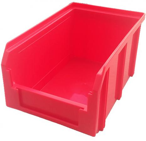 Ящик СТЕЛЛА V-2 3,8 литр, красный пластик 234х149х121мм ящик раскладной универсальный 38 5х25 5х21см пластик