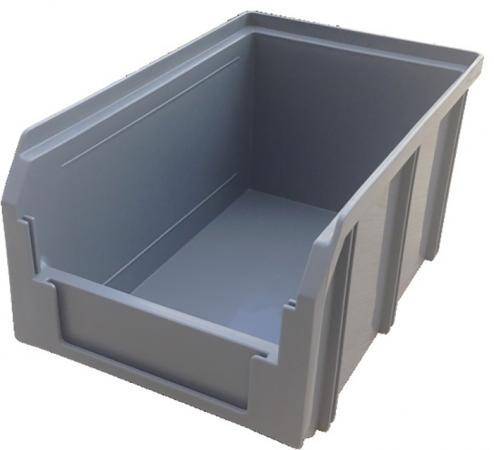 Ящик СТЕЛЛА V-2 3,8 литр, серый пластик 234х149х121мм ящик раскладной универсальный 38 5х25 5х21см пластик