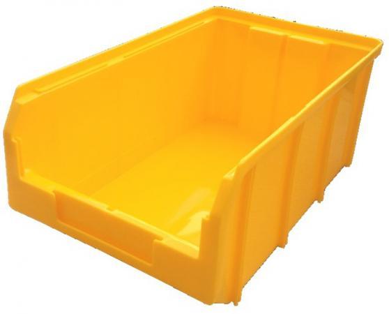 Ящик СТЕЛЛА V-3 9,4 литр, желтый пластик 341х207х143мм ящик раскладной универсальный 38 5х25 5х21см пластик