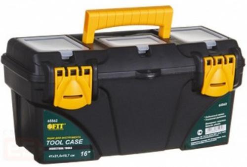 Ящик для инструмента FIT 65562 пластиковый 16 (41 х 21,5 х 19,7 см) ящик для инструмента с металлическими замками 16 175х210х410мм stels россия 90711