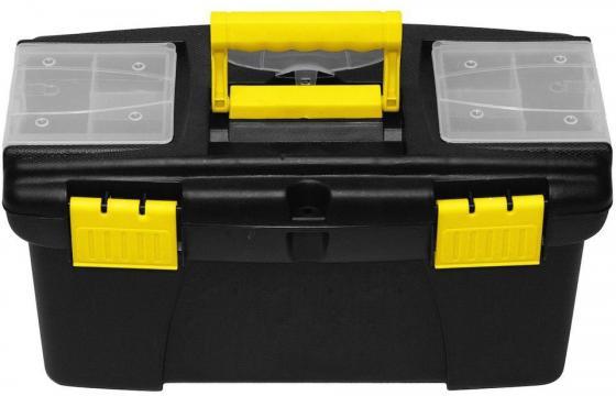 Ящик для инструмента FIT 65574 пластиковый 22 (56,5 х 35,5 х 29 см) ящик для инструмента fit 65572 пластиковый 16 41 х 22 х 19 5 см