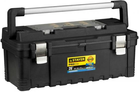 Ящик STAYER 38003-26 пластиковый для инструмента 656x285x270мм 26