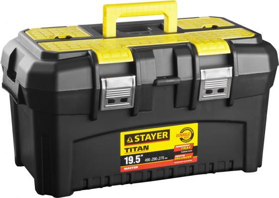 Ящик STAYER 38016-19 пластиковый для инструмента 490x290x270мм 19 ящик для инструмента stayer standard vega 12 пластиковый с органайзерами 38105 13 z02