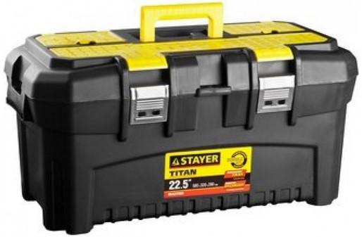 Ящик STAYER 38016-22 пластиковый для инструмента 580x320x280мм 22