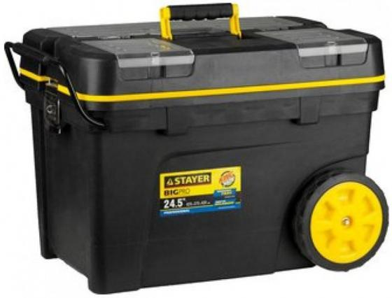 Ящик STAYER 38107-24 тележка пластиковая для инструмента 620х370х420мм 24.5 цены