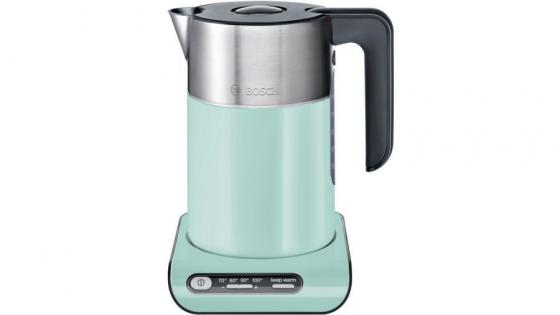 Чайник Bosch TWK8612P 2400 Вт чёрный 1.5 л стекло чайник bosch twk7603 3000 вт чёрный 1 7 л пластик