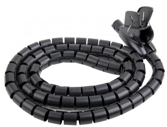 Труба ELECTRALINE 60042 гофрированная электротехническая с фиксатором для компьютерных шнуров 1,8м