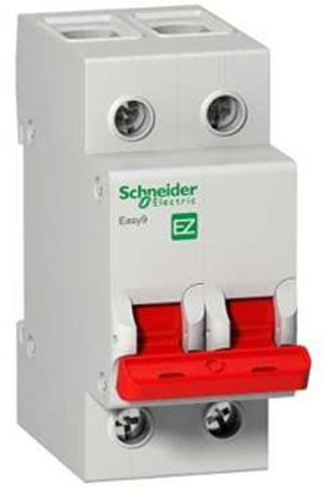 Рубильник мод. SCHNEIDER ELECTRIC EASY9 EZ9S16280 2П 80А 400В велорюкзак deuter ac lite 22 sl для женщин 52x32x20 22 л фиолетовый 3420216 3349