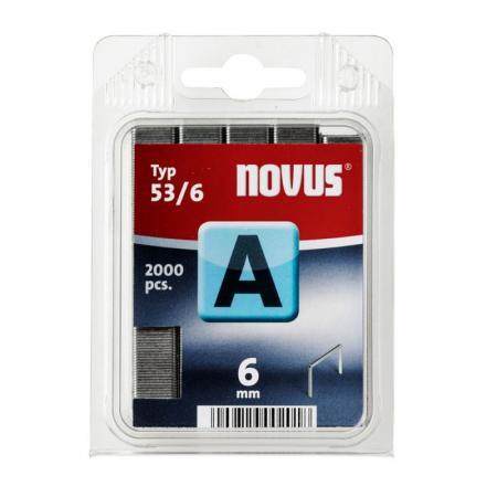 Скобы для степлера Novus 6 мм 2000 шт