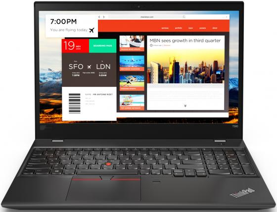 Ноутбук Lenovo ThinkPad T580 15.6 1920x1080 Intel Core i7-8550U 512 Gb 8Gb Intel UHD Graphics 620 черный Windows 10 Professional 20L90023RT ноутбук lenovo 20l90023rt