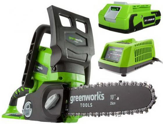 Цепная пила аккумуляторная GreenWorks G24CS25K2, 24V, 25см, c 1хАКБ 2 А.ч и ЗУ GD24CSK2 centella asiatica extract 10 page 1