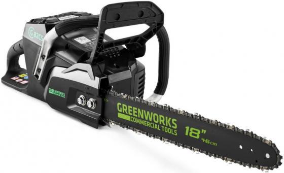 Профессиональная аккумуляторная цепная пила Greenworks 82V цены