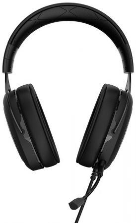 Игровая гарнитура проводная Corsair Gaming HS50 черный CA-9011170-EU игровая гарнитура беспроводная corsair gaming void pro rgb wireless se желтый черный ca 9011150 eu