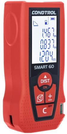 Дальномер CONDTROL SMART 60 лазерный ± 1.5мм 2хААА дальномер лазерный condtrol x1 lite 30м