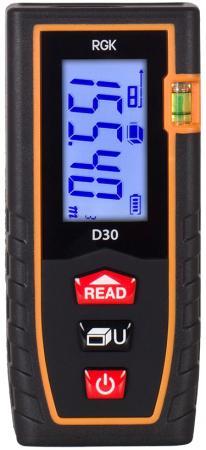 Дальномер Rgk D30 30 м лазерная рулетка rgk d30
