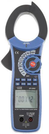 Клещи токовые CEM DT-3352 проф. для измерения пост./перем. тока и мощности клещи cem dt 3348